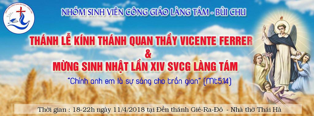 SVCG Làng Tám – Bùi Chu: Mừng kính quan thầy Vincente & Sinh nhật lần thứ 14
