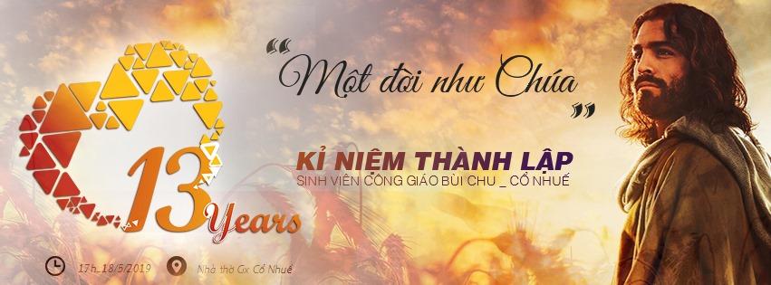 Thư mời Lễ Sinh Nhật lần thứ XIII của nhóm SVCG Bùi Chu – Cổ Nhuế